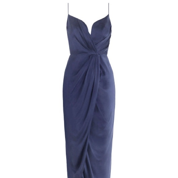 578c4af33b Zimmermann sueded silk navy plunge dress. M 5aea74268290af3bd9d6fde9